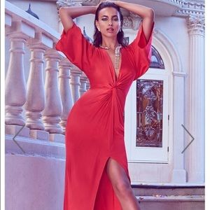 Gorgeous red silk dress Bebe